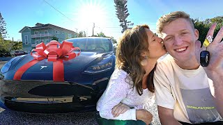 Surprising My Mom With A Brand New Tesla