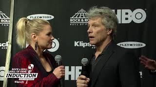Jon Bon Jovi on the 2018 Rock & Roll Hall of Fame Induction Ceremony Red Carpet