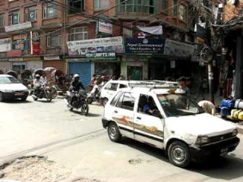 Kathmandu traffic.AVI