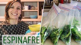 ESPINAFRE: como limpar e armazenar + receita de creme para o inverno