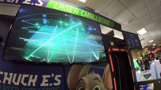Sisters Conquer Chuck E.'s Laser Challenge