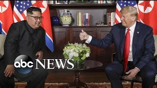 Trump and Kim Jong Un making history with their goals to denuclearize Korean Peninsula width=