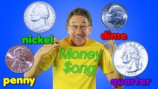 The Money Song | Penny, Nickel, Dime, Quarter | Math Song for Kids | Jack Hartmann