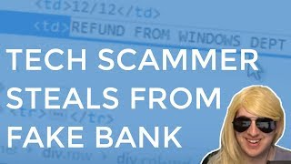 Tech Scammer Steals From My Fake Bank Account