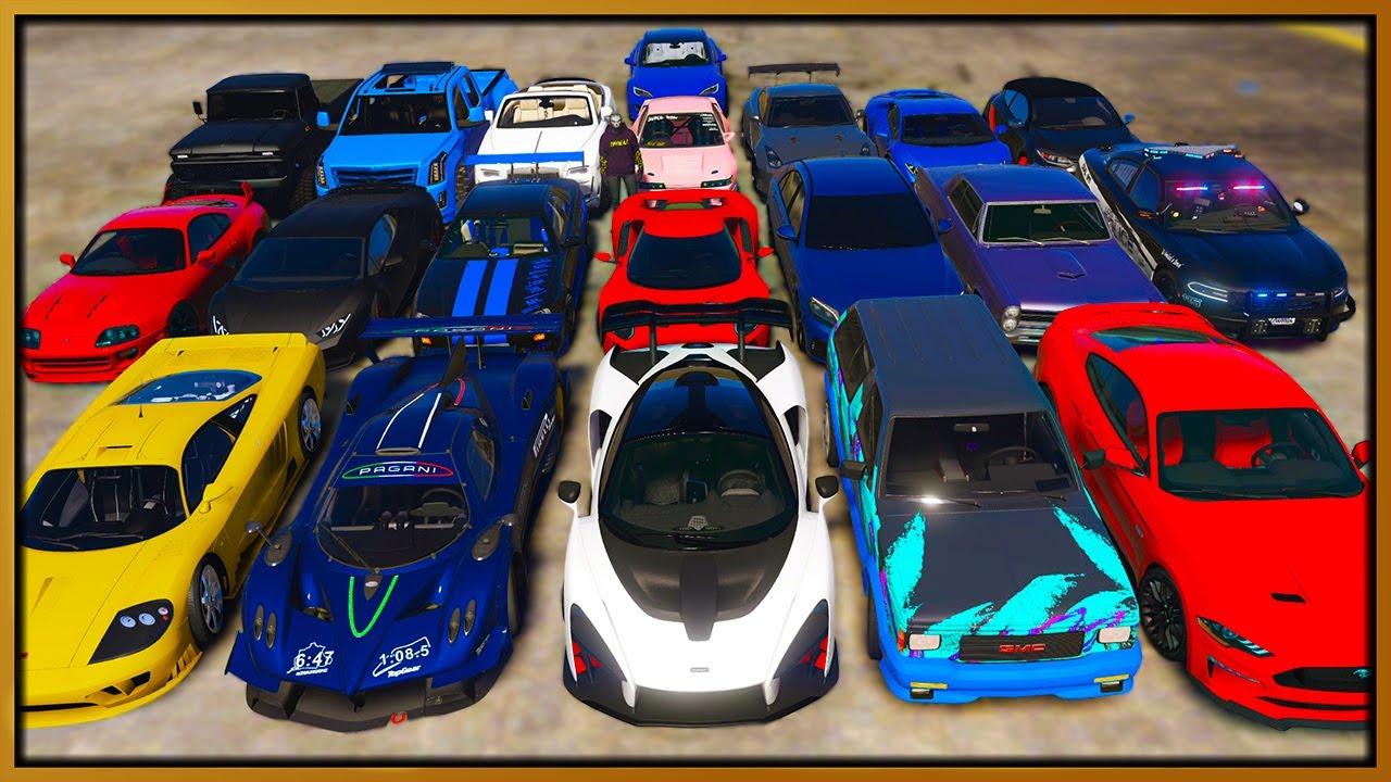 Elanip - GTA 5 Roleplay - STEALING 20 LUXURY CARS | RedlineRP