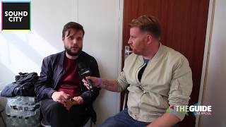 We catch up with Harry from White Lies at Sound City 2017
