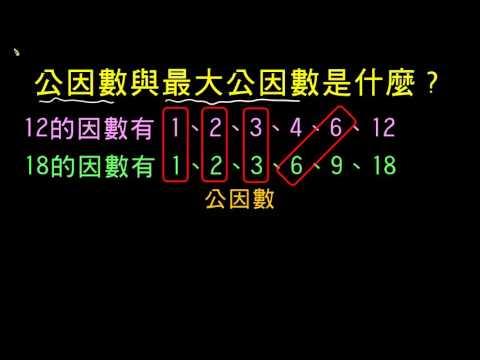 【觀念】公因數與最大公因數是什麼?