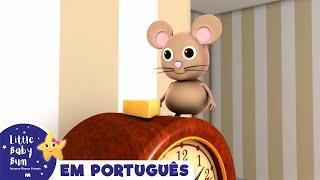 Hickory Dickory Dock Português | canções infantis | LittleBabyBum
