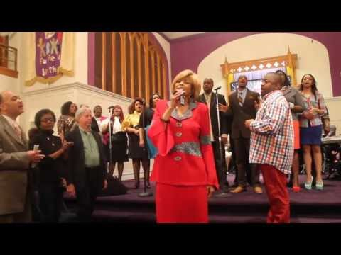 """Dr. Dorinda Clark Cole singing 'Still Here"""" with Larry Callahan & Selected of God in Toledo, MI"""