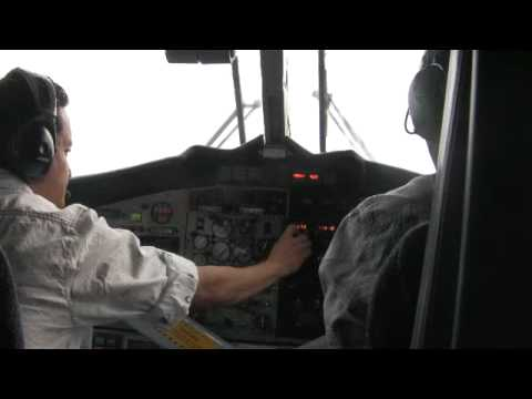 Mera, Nepal 2010 – Flight to Lukla  – Emilia & Ray Just Before Take Off