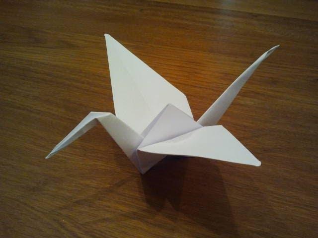 Easy Origami Crane Tutorial - Tsuru - Paper Kawaii - YouTube | 480x640
