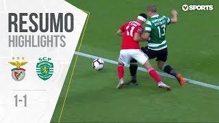 Highlights | Resumo: Benfica 1-1 Sporting (Liga 18/19 #3)