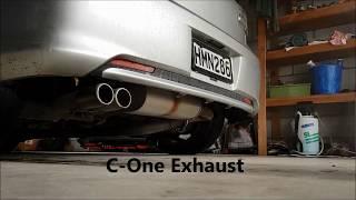 Toyota Blade Master Exhaust comparison 2 - Stock vs Modellista vs C-One