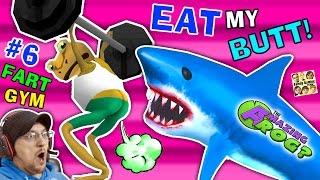 EAT MY BUTT SHARK! AMAZING FROG FART GYM & Inflatable Bouncy Castle Sky Fun (FGTEEV Part 6 Gameplay)