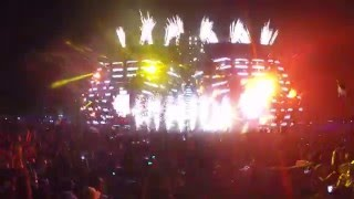 Tiesto & Chainsmokers split & roses - ULTRA MIAMI 2016 HD