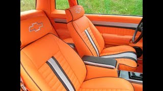 1986 Monte Carlo SS Part 7 Finished Custom Orange Interior by Matt SSinteriors