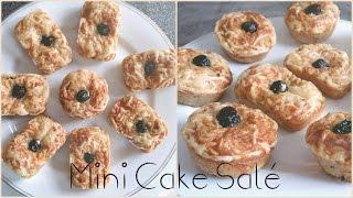 Mini cake salé🌟 aux olive , thon , poivron recette facile et rapide