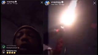 GOONS Try to ROB SNAP DOG and He SHOOTS 100 ROUND CLIP at THEM on InstagramLIVE (Allegedly)
