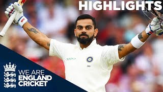 Kohli's Century Sees India Take Control | England v India 3rd Test Day 3 2018 - Highlights width=