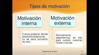 Motivación interna & externa :)