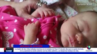 La madre de dos niñas halladas muertas dijo que se quedó dormida con las menores dentro de su auto