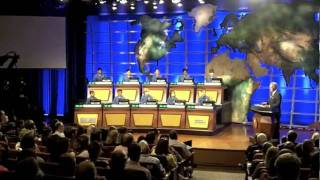 Alex Trebek Introduces 2010 National Geographic Bee Finalists
