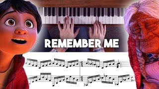 Coco - Remember Me / Recuérdame Advanced Piano Cover with Sheet Music (Lullaby Version)