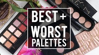 5 BEST + 5 WORST: EYESHADOW PALETTES | WHAT'S HOT OR NOT?! |JamiePaigeBeauty
