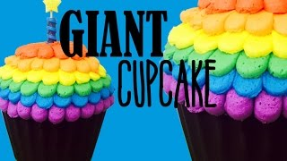 Giant Cupcake Masterclass! With Rainbow Frosting | My Cupcake Addiction