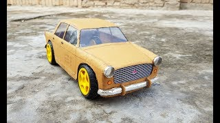 How to make a FIAT old car || 1969 old car|| cardboard fiat cars at home||