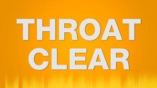Throat Clear SOUND EFFECT - Räuspern SOUNDS