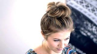 Messy Top Knot for Short/Medium Hair Tutorial | Milabu
