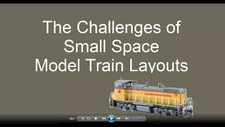 Small Space Model Train Layouts - Tips