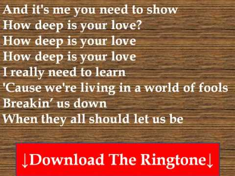 Bee Gees How Deep Is Your Love Lyrics Chords Chordify