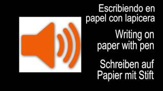 Sound Effect  - Writing a paper with pen