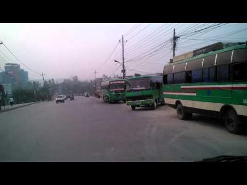 Taxi ride in Kathmandu Nepal