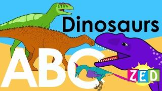 Dinosaur Alphabet  Zed | ABC of Dinosaurs | Learn about dinosaurs | NurseryTracks