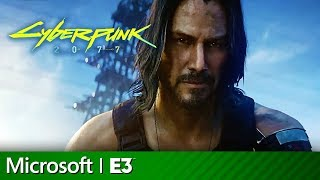 Cyberpunk 2077 Full Presentation with Keanu Reeves | Microsoft Xbox E3 2019