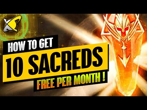 """How To Get 10+ """"FREE"""" SACRED SHARDS Every Month !! 