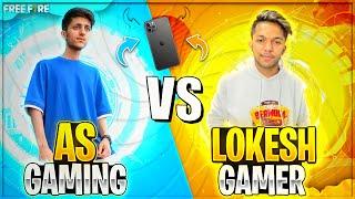 A_s Gaming Vs Lokesh Gamer I Phone 12 Pro Max Challenge Best Clash Squad Battle - Garena Free Fire