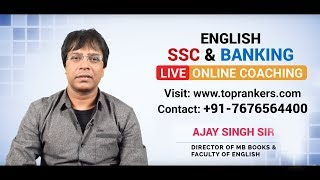 English Live Classes for SSC Exams by Ajay Kumar Singh Sir MB Publication
