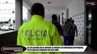 """EN RIONEGRO ANTIOQUIA CAPTURA 7 PERSONAS ACUSADAS DE PERTENCER A LOS """"CATURROS"""""""
