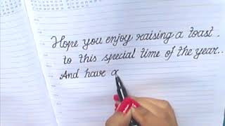 Wishing Happy New Year in cursive♣♣How/What to write on New Year card in cursive
