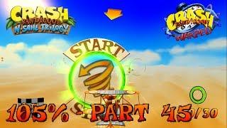 Crash Bandicoot 3 - N. Sane Trilogy - 105% Walkthrough, Part 45: Rings Of Power (Both Gems)