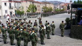 A Portuguesa: Hino Nacional no Dia do RI13. Exército Português. NATO. Vila Real. Portugal. 2017