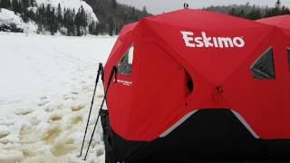 Eskimo fatfish 9416, hot tent , military wood stove , ice fishing