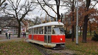 Tramvaje Praha - Historická tramvaj T1 na lince 41 18.11.2017