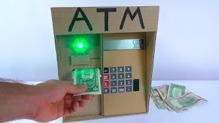 How To Make ATM Machine From Cardboard   DIY ATM For Kids