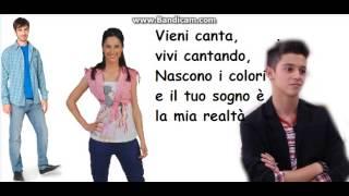 Luca y Francesca y Federico Vieni Canta letra