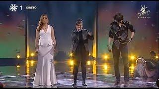 Carolina Deslandes, Jéssica Ângelo e Francisco Murta Heaven ao vivo no The Voice Portugal